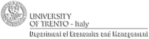 Logo Department Economics and Management UniTrento